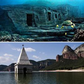 بالصور: تعرفوا إلى 10 مواقع مذهلة غارقة تحت الماء حول العالم