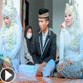 فيديو وصور: إندونيسية تذهب لحفل زفاف حبيبها السابق بدون دعوة فيتخذها  ..
