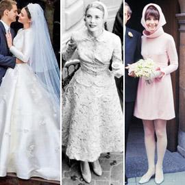 صور 10 عرائس شهيرات ارتدين فساتين زفاف جميلة وغريبة لا تنسى..