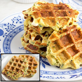 إليكم طريقة تحضير وافل الكوسا لفطور صباحي صحي ولذيذ خفيف