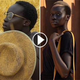 فيديو وصور: عارضة أزياء سودانية تحارب العنصرية بطريقة أثارت استحسان  ..
