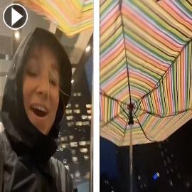 تتحدى إعصار آيدا لتلتقي بفتى أحلامها.. والنتيجة؟ فيديو وصور :
