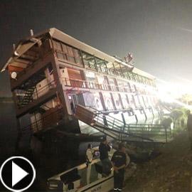 فيديو فاجعة المنصورة: غرق مركب عائم بالنيل أثناء تناول العشاء
