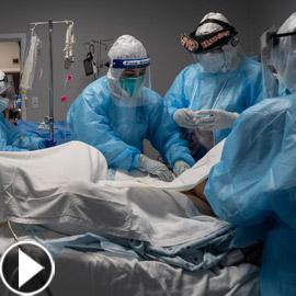 فيديو: ما الذي يحدث لمصاب بفيروس كورونا قبل أن يلفظ أنفاسه الأخيرة؟