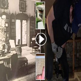 يكتشف عشرات الممرات والغرف السرية تحت منزل عائلته فيديو وصور :