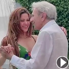 فيديو: شاكيرا ترقص مع والدها في عامه الـ90 وتشعل مواقع التواصل
