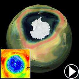 فيديو يكشف عن كارثة حقيقية: ثقب الأوزون أصبح أكبر من قارة!