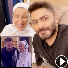 تامر حسني يحقق حلم فتاة كفيفة بالغناء معه: أوامر يا فندم!