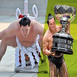 كورونا يتسبب بإنهاء مسيرة أعظم مصارع سومو بتاريخ الرياضة.. صور