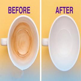 إليكم طرق بسيطة للتخلص من بقع وإصفرار أكواب الشاي