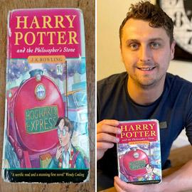 هاري بوتر الحقيقي يبيع الطبعة الأولى من الكتاب المشهور حول هاري بوتر