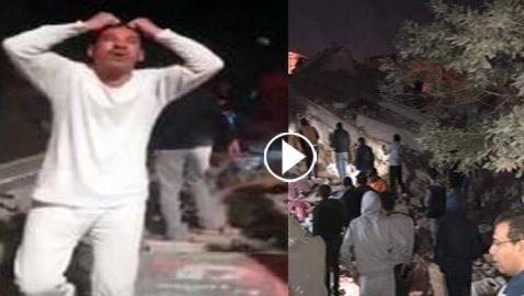 بالفيديو والصور.. انهيار عقار من 10 طوابق في القاهرة