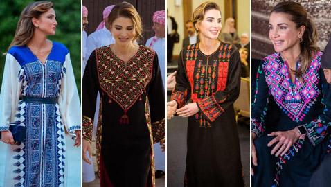 الثوب الأردني التقليدي على الملكة رانيا: التراث الأصيل في أبهى صوره
