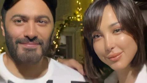 صورة تامر حسني وزوجته بسمة بوسيل بتغيير صادم في ملامحهما: تامر وبسمة البلاستيك!