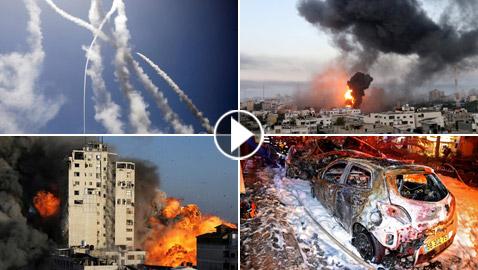 فيديو وصور: العدوان الإسرائيلي على غزة يحصد 67 قتيلا و388 جريحا