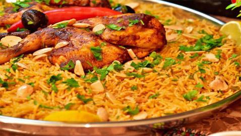 مندي الدجاج الشهير مع صلصة الدقوس الحارة على الطريقة اليمنية