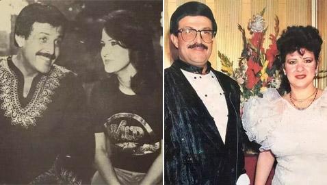 صور نادرة من زفاف سمير غانم ودلال عبد العزيز وأيام الخطوبة