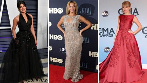 صور نجمات يرتدين أروع فساتين المصمم إيلي صعب: بيونسي، جينيفر لوبيز، تايلور سويفت وأنجلينا جولي