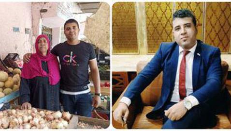 ابن يستحق التقدير: محمد موظف يعمل صباحا في البنك ومساءا يساعد والدته ببيع الخضار