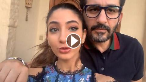 أحمد حلمي يرقص ويغني مع ابنته لي لي على