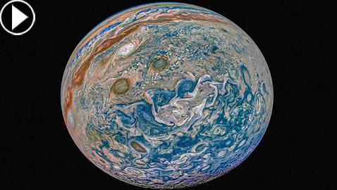 بالفيديو والصور: ناسا تنشر مشاهد مذهلة لكوكب المشتري وأكبر أقماره