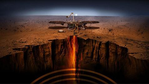 زلازل المريخ يوفر نظرة مفصلة على سطح الكوكب الأحمر من الداخل