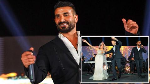 صور: عروس تنسحب من حفل زفافها بسبب أحمد سعد!