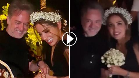 صور وفيديو: هل تزوج مروان خوري مساء أمس؟ العروس تضع إكليلا من الورد على رأسها