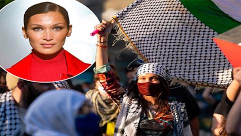 صور: بيلا حديد تعبر من جديد عن حبها لوطنها فلسطين
