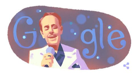 محرك البحث غوغل يحتفل بذكرى مولد الفنان اللبناني ملحم بركات.. صور