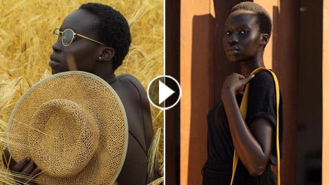 فيديو وصور: عارضة أزياء سودانية تحارب العنصرية بطريقة أثارت استحسان الجمهور