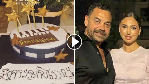 فيديو وصور: نيكول سعفان ترد على زواج أصالة بالاحتفال مع طارق العريان