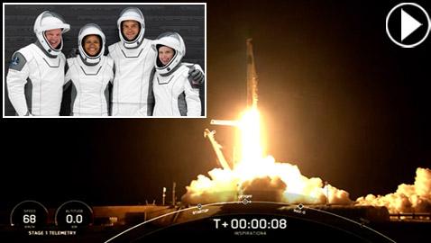 حدث تاريخي: إطلاق أول رحلة سياحية إلى الفضاء وعلى متنها مدنيون