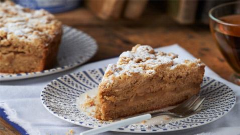 إليكم طريقة تحضير كعكة التفاح الخفيفة والطيبة للرجيم