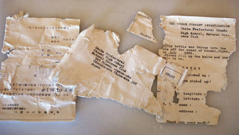 رسالة في زجاجة تقطع آلاف الأميال البحرية من اليابان لأمريكا بعد 37 عاما