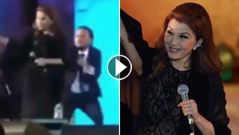 فيديوهات وصور: ماجدة الرومي تتعرض للإغماء في مهرجان جرش وتقلق جمهورها.. ما السبب؟