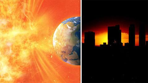 عاصفة شمسية كارثية قد تنهي العالم، والتحذير بشأنها قبل يوم واحد فقط!