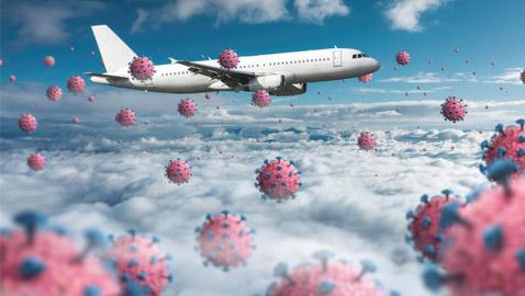 خبر يهمنا جميعا.. هذه أخطر نقطة لانتشار فيروس كورونا على الطائرة!