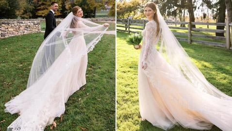 دار أزياء شهيرة تحقق أحلام جينيفر غيتس: صنعت لها فستانا رائعا لزفافها