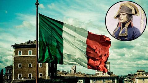 كيف تسبب الفرنسي نابليون باختيار الشكل الحالي لعلم إيطاليا؟