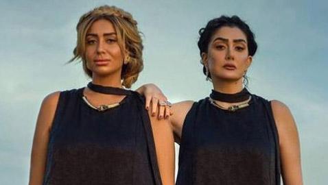صور غادة عبد الرازق وابنتها ترتديان نفس الفستان واللون.. أيهما الأجمل؟